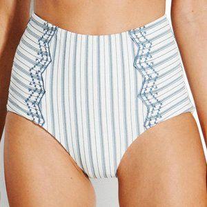 SEAFOLLY 8 Sea Stripe High Waist Bikini Bottom New